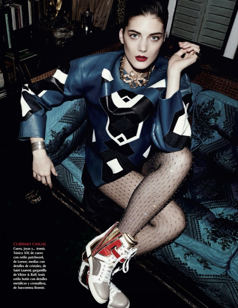 Katryn Kruger for Vogue Mexico January 2014