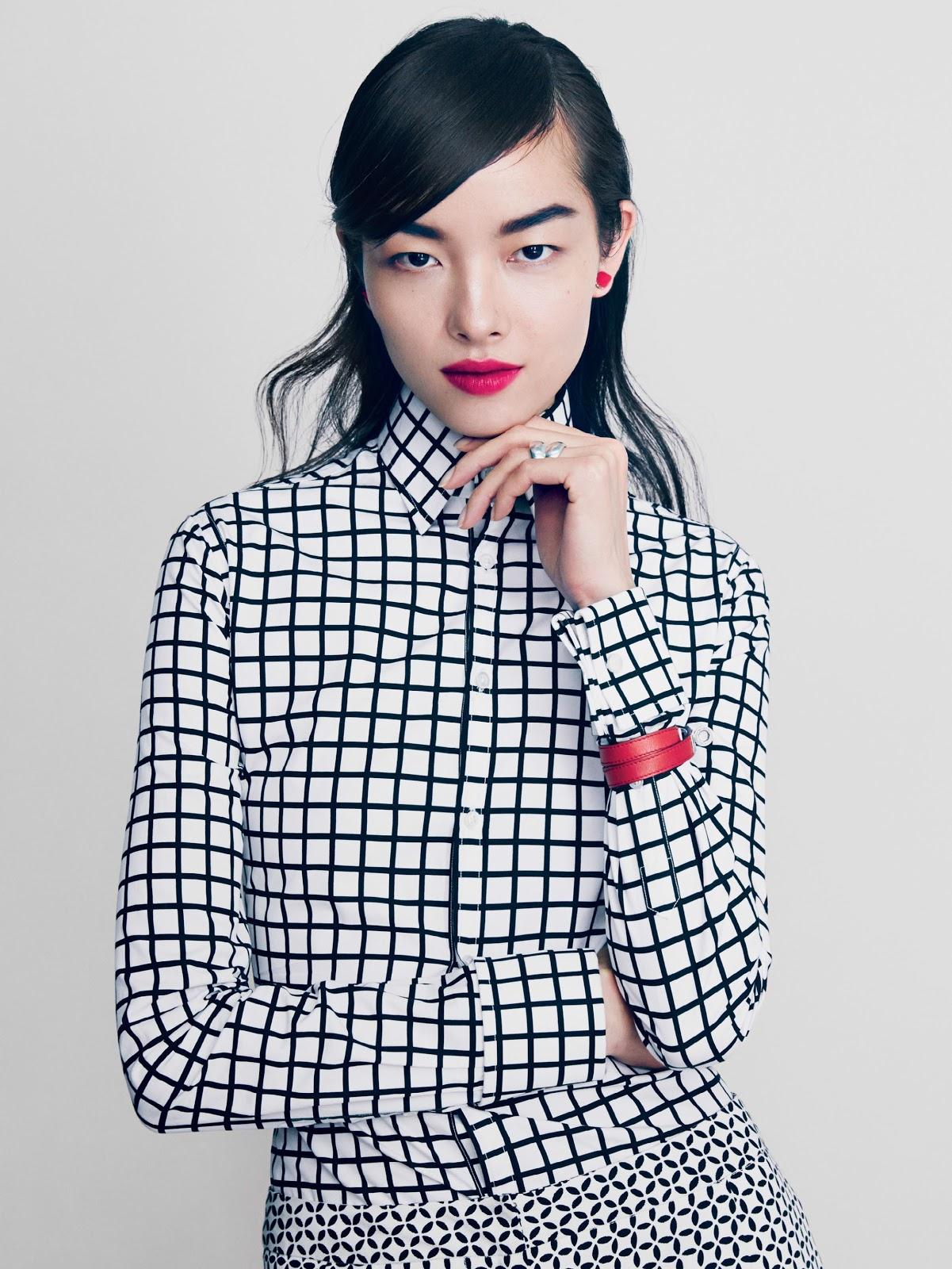 Sasha Pivovarova, Fei Fei Sun Anais Mali by Patrick Demarchelier for Vogue February 2014 advise dress for spring in 2019