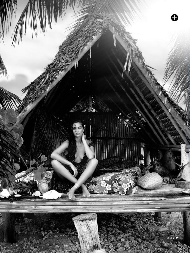 Shanina Shaik for Marie Claire Australia February 2014 - Island Time