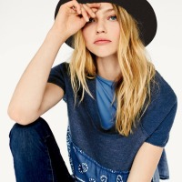 Sasha Pivovarova for Free People January 2014 Lookbook