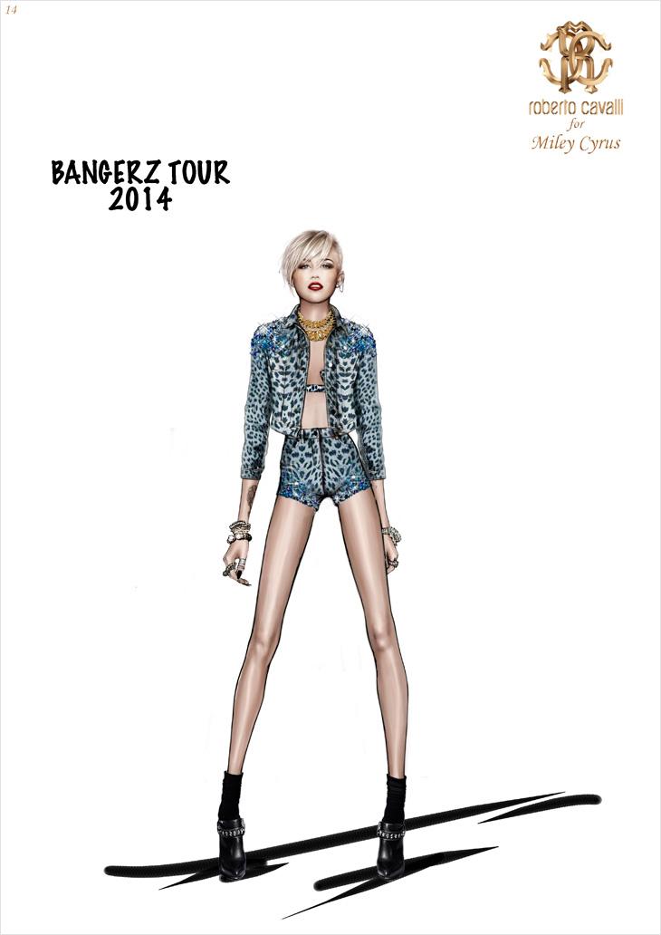 Miley Cyrus by Roberto Cavalli Bangerz World Tour