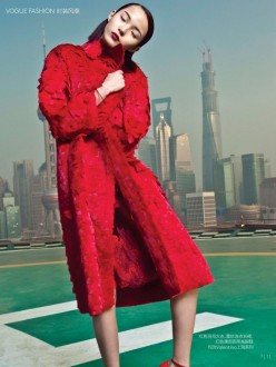 Valentino, My Name is Red - Vogue China Collections February Extra 2014 Issue