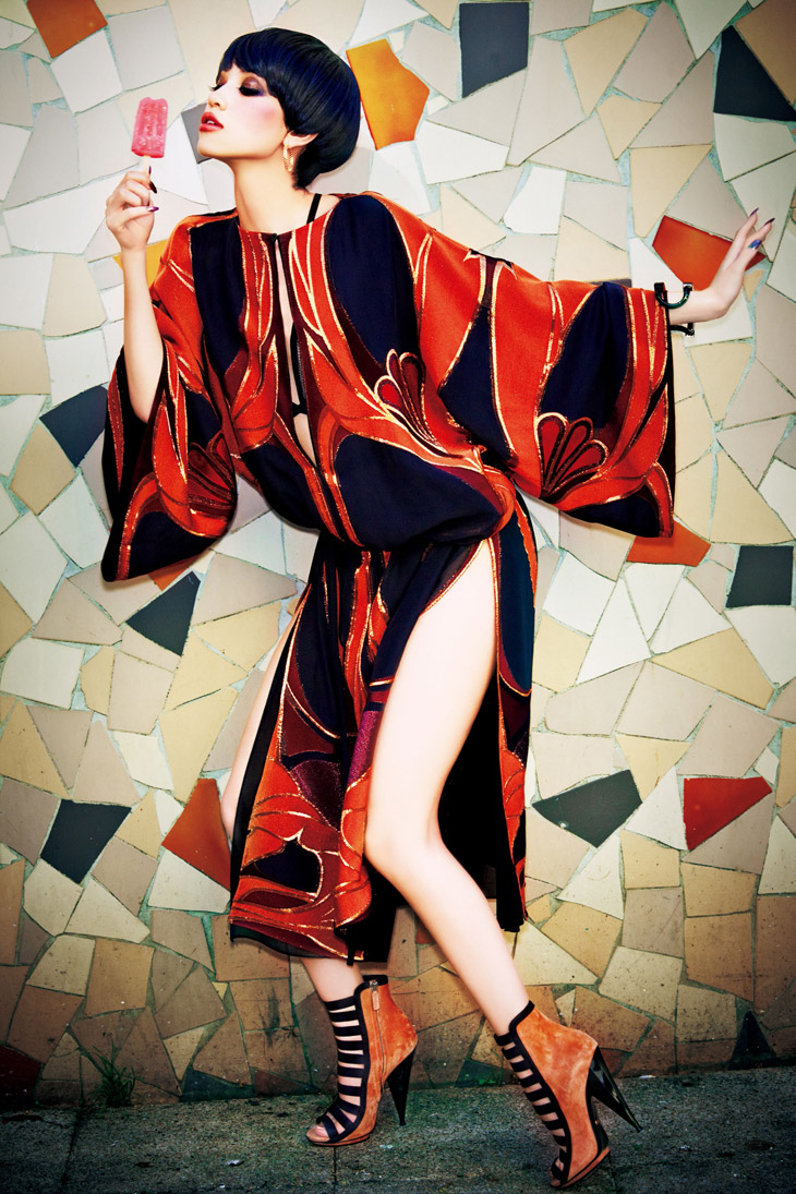 Kiko Mizuhara in Gucci for Vogue Japan February 2014 - The Morning After