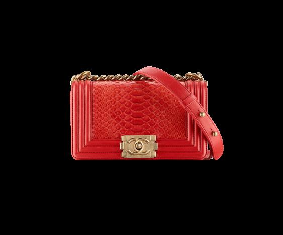Small Python Boy Chanel Large Flap Bag