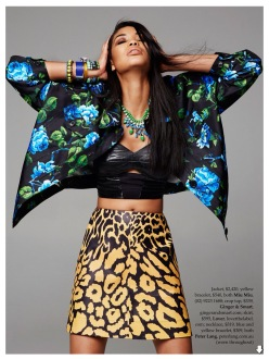 Chanel Iman for Elle Australia February 2014