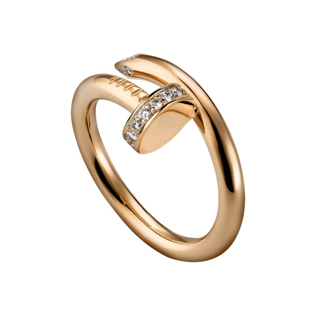 Gold ring with diamonds Cartier