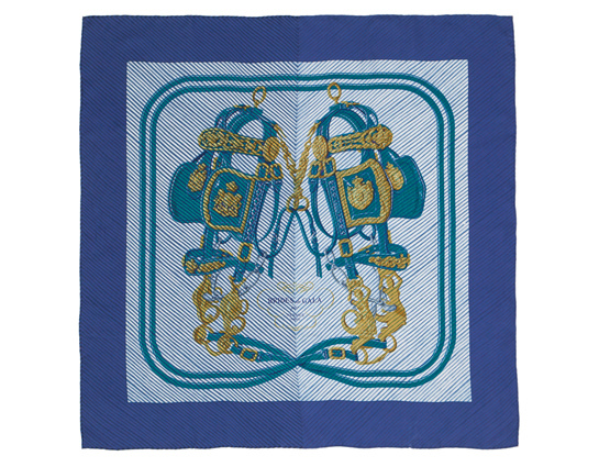 90 Bridels of Arashi gala medium silk scarf, Hermès, €600.