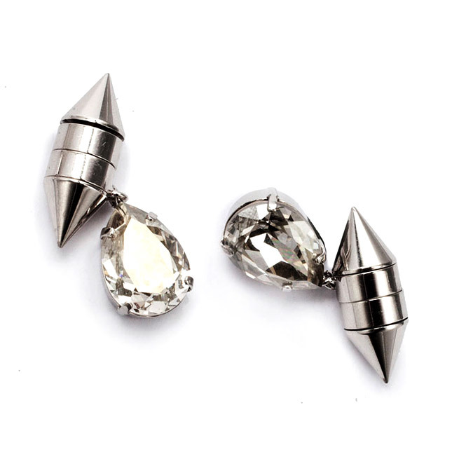 Metal earrings with crystals Givenchy