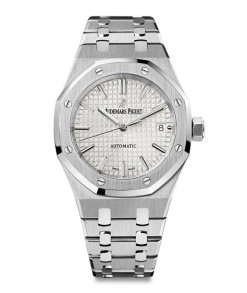 Audemars Piguet Royal Oak 15450ST watch in stainless steel, waterproof to a depth of 50 meters, €14,200