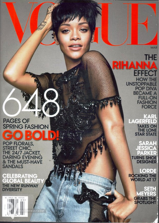 Rihanna by David Sims for Vogue US March 2014 - Stylin' With RiRi