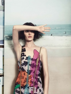 Sam Rollinson, Lexi Boling and Katlin Aas for Vogue UK March 2014 - Pop Core