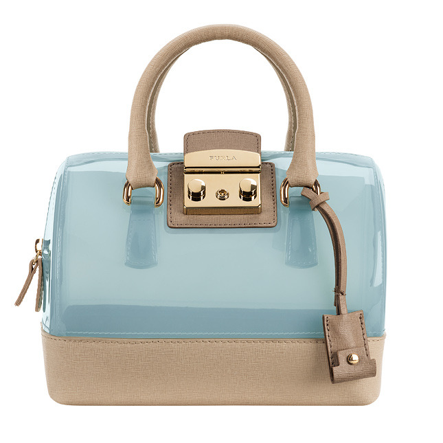 FURLA Bag with a short handle and transparent inserts