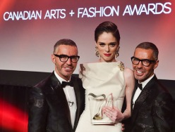 Dean and Dan Caten, Coco Rocha at Canadian Arts & Fashion Awards