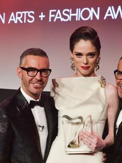 Dean and Dan Caten, Coco Rocha at Canadian Arts & Fashion Awards
