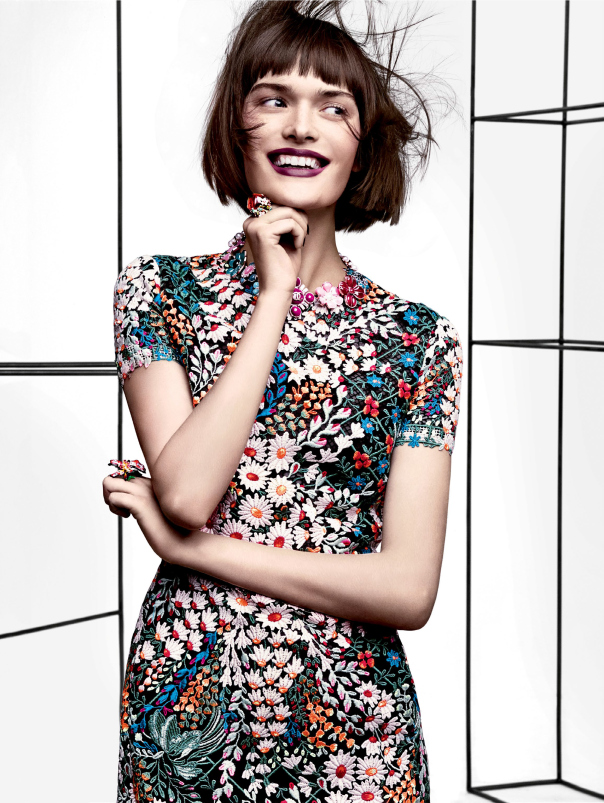 Petal Pushers - by Craig McDean for Vogue US March 2014 Issue