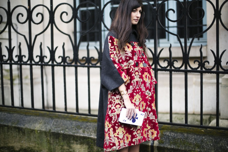 Valentina Siragusa  - Antonio Marras coat and purse