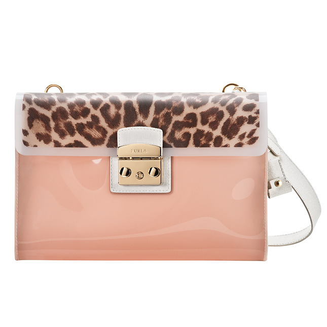 FURLA Clutch with transparent inserts