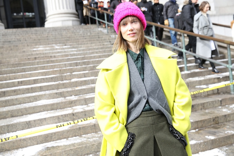 Street Looks at New York Fashion Week: Day 1, Anya Ziourova.
