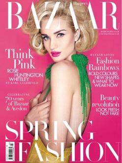 Carine's Edit - Rosie, Karolina, Naomi, Alewya, Kate & Sabrina by Karl Lagerfeld for Uk Harper's Bazaar March 2014