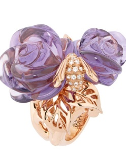"""""""Rose Dior Pré Catalan"""" ring in 18k rose gold and amethyst"""