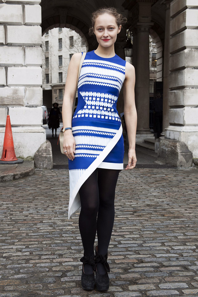 Street Style At London A W 2014 2015 Fashion Week Part 1 A Stairway To Fashion