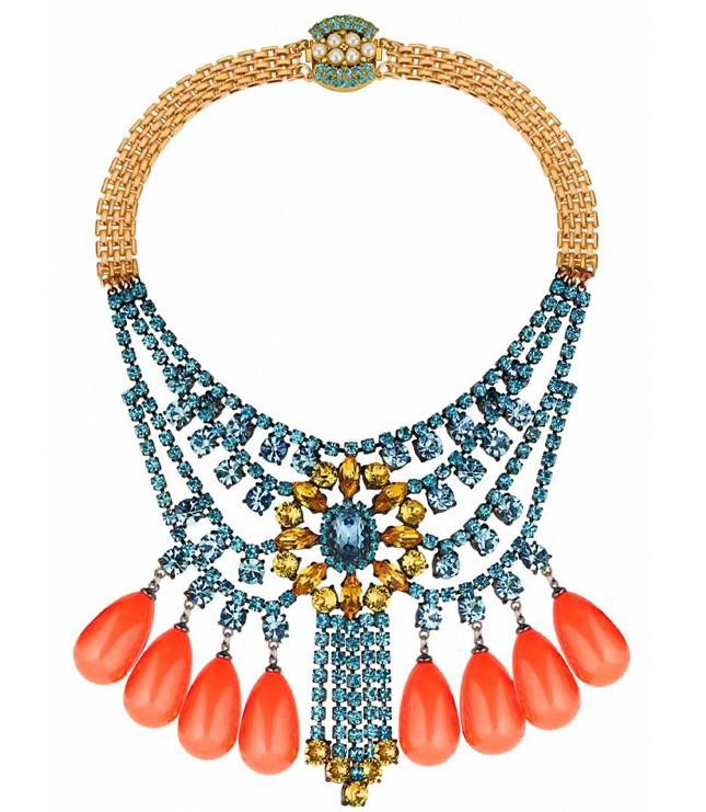 Necklace with crystals and resin jewelry Barbarella collection - MAWI