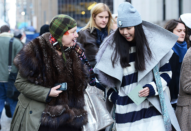 Street Looks At New York Autumn/Winter 2014.25 Fashion Shows