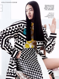 Ondria, Irene, Magdalena & Chiharu by Daniel Jackson For Vogue China March 2014 - Zen Mantra