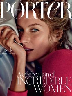 Giselle Bundchen for The Debut Cover of Porter Magazine by Net-a-Porter