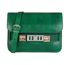 Proenza Schouler - Mini Bag PS 11 made of emerald snake skin