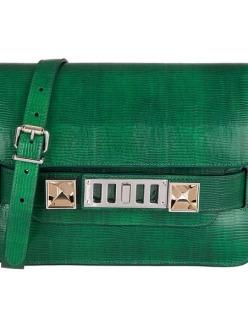 Proenza Schouler - Mini Bag PS 11 made of emerald snake skin