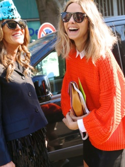 Anna Dello Russo, editor-at-large and creative consultant at Vogue Japan and Candela Novembre