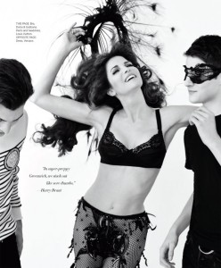 Stephanie Seymour and sons Peter and Harry Brant for Harper's Bazaar March 2014 - Mum's The Word
