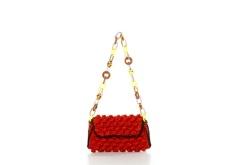 M Missoni Melange Raffia Shoulder Bag $395.00