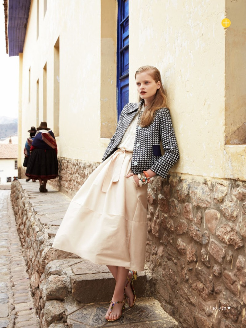 Nathalia Oliveira for Marie Claire Australia March 2014 - The Accidental Tourist