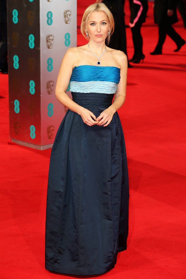 Gillian Anderson in Balmain