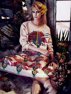 Juliana Schurig for Vogue Japan March 2014