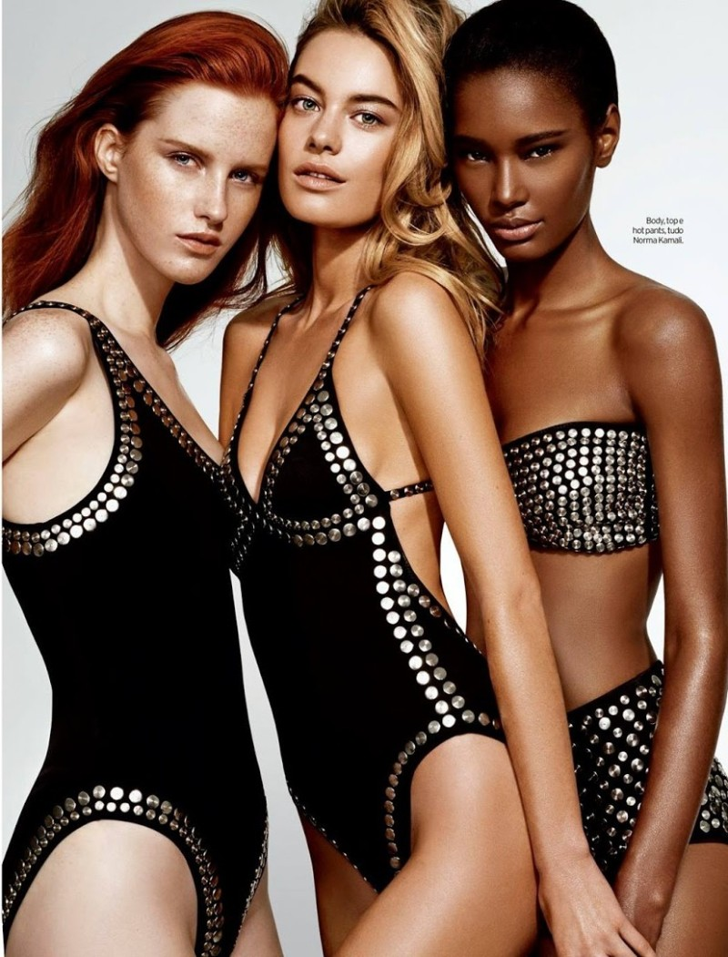 Magdalena Jasek, Camille Rowe and Ysaunny Brito for Elle Brasil February 2014