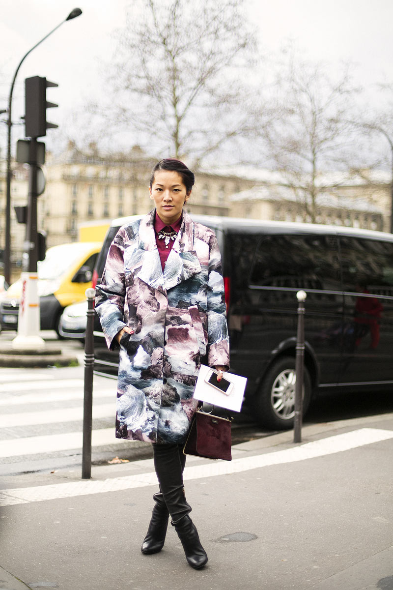 Street Style At Paris Fashion Week A W 2014 Part 4 A Stairway To Fashion