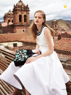 Nathalia Oliveira for Marie Claire Australia March 2014 - The Accidental Tourist