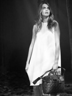 Cara Delevingne unveiling Mullberry bag