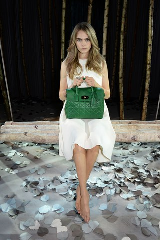 Cara Delevingne unveiling Mullberry bag