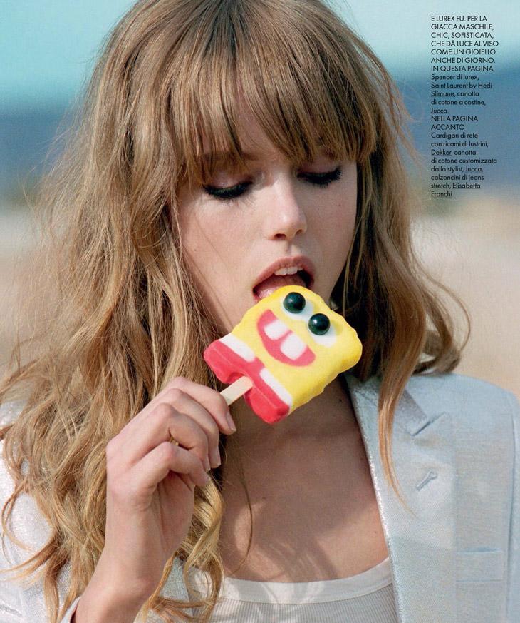 Frida gustavsson by matt jones for elle italia may 2014 for Elle italia