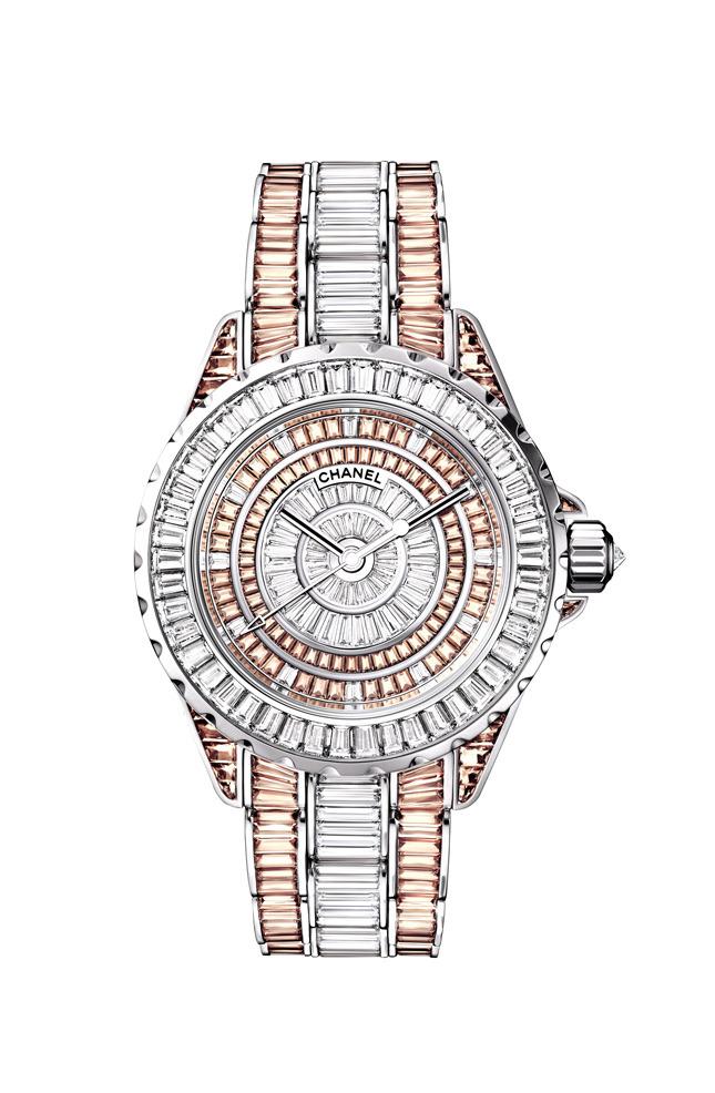 J12 Haute Joaillerie watch, white gold, diamonds, sapphires