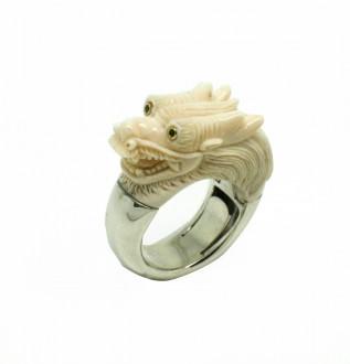 Silver Dragon Mammoth Ring € 2.325,00
