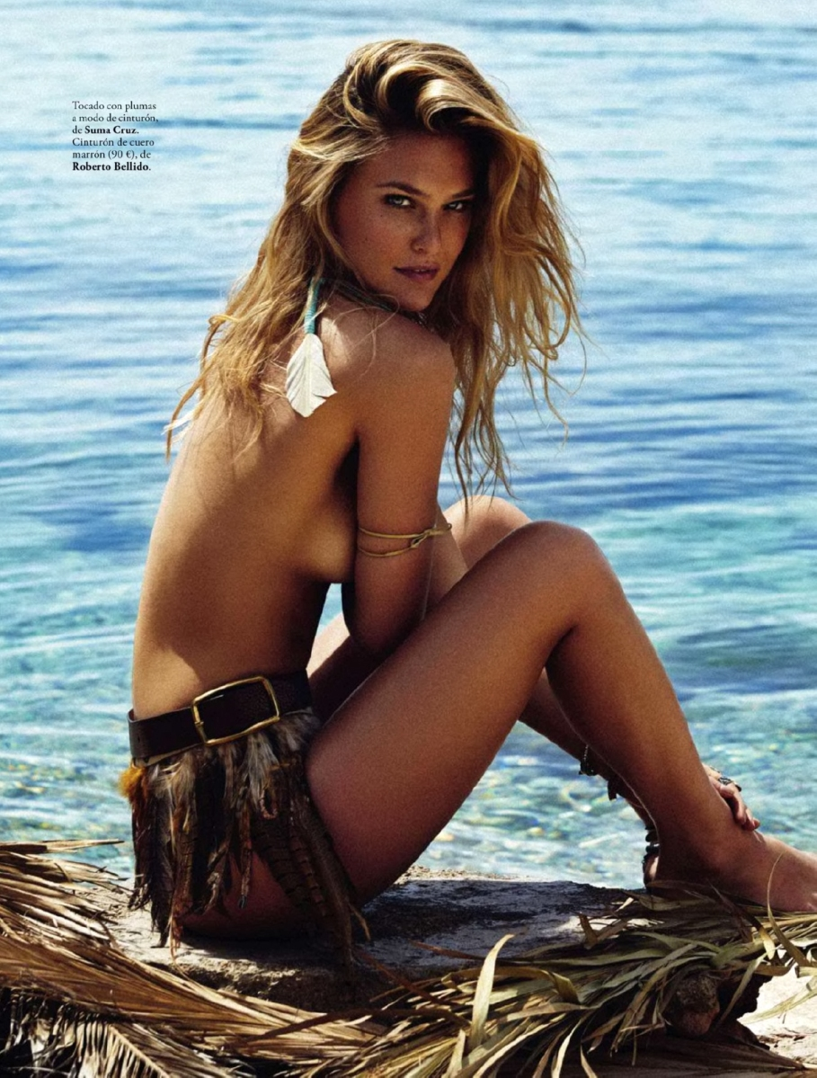 Bar Refaeli by Xavi Gordo for Elle Spain June 2014
