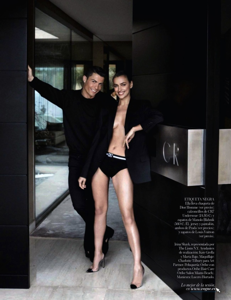 Cristiano Ronaldo and Irina Shayk by Mario Testino for Vogue Spain June 2014