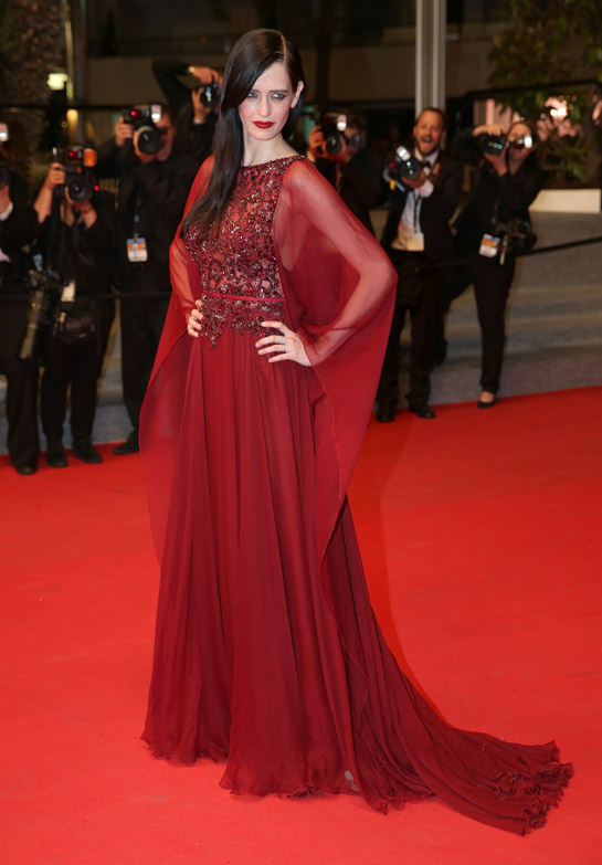 Eva Green in Elie Saab Haute Couture Fall:Winter 2013-2014 and Repossi jewelry