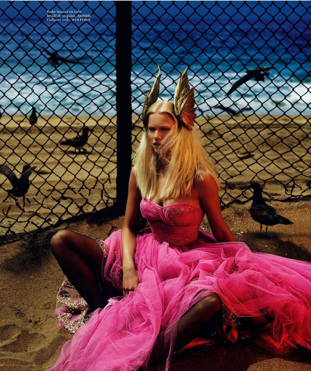 Anna Ewers by Mert Alas & Marcus Piggott for Vogue Paris August 2014