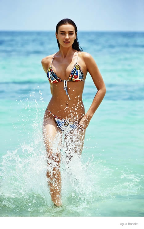 Irina Shayk by Enrique Badulescu for Agua Bendita Summer 2015 Collection